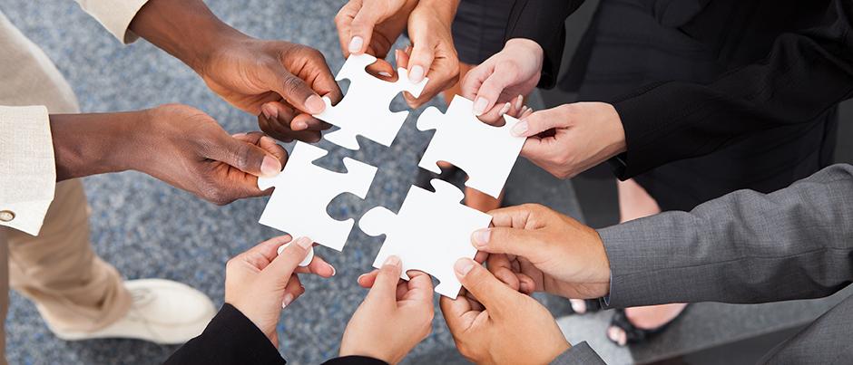 Teamtalenten als stukken van de puzzel
